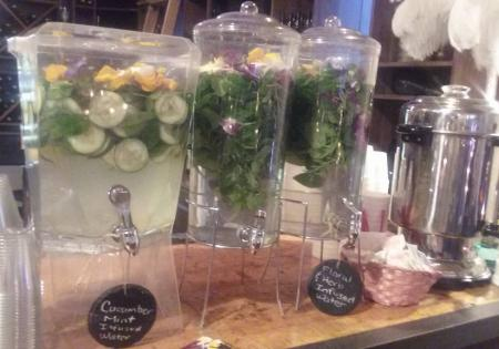 Drink Station with Herbal and Floral Infused Water